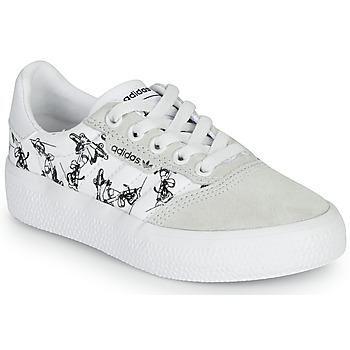 Buty Dziecko Trampki niskie adidas Originals 3MC C X DISNEY SPORT Biały