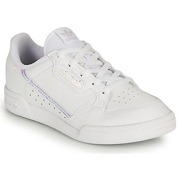 Buty Dziewczynka Trampki niskie adidas Originals CONTINENTAL 80 C Biały / Tęczowy