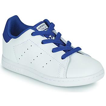 Buty Chłopiec Trampki niskie adidas Originals STAN SMITH EL I Biały / Niebieski