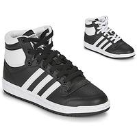 Buty Dziecko Trampki wysokie adidas Originals TOP TEN J Czarny / Biały