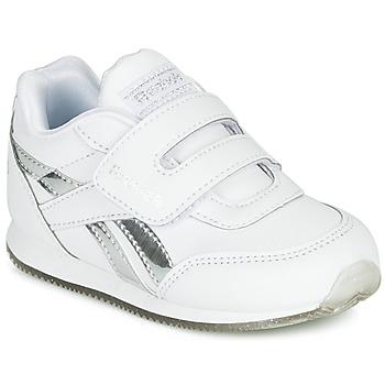 Buty Dziewczynka Trampki niskie Reebok Classic REEBOK ROYAL CLJOG Biały / Argenté
