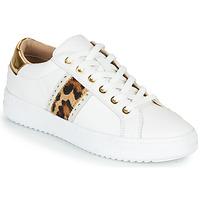 Buty Damskie Trampki niskie Geox PONTOISE Biały / Leopard