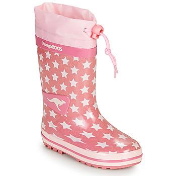 Buty Dziewczynka Kalosze Kangaroos K-RAIN Różowy