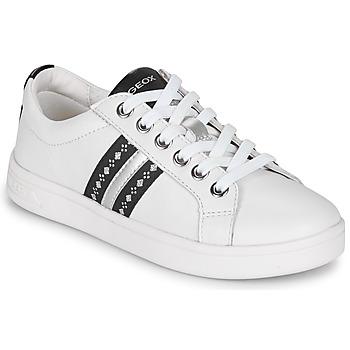 Buty Dziewczynka Trampki niskie Geox DJROCK Biały