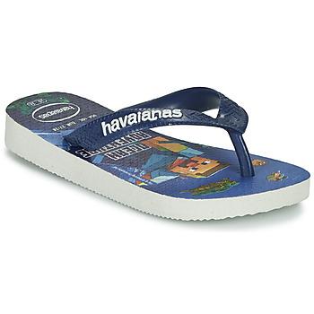 Buty Chłopiec Japonki Havaianas KIDS MINECRAFT Niebieski