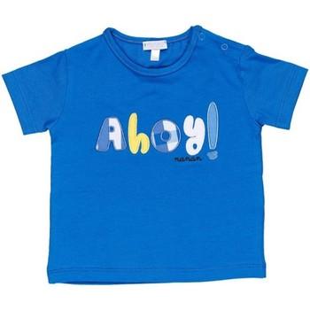 tekstylia Chłopiec T-shirty z krótkim rękawem Nanan E20174 Niebieski