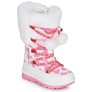 Buty Dziewczynka Śniegowce Agatha Ruiz de la Prada APRESKI Biały