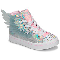 Buty Dziewczynka Trampki wysokie Skechers TWI-LITES 2.0 Srebrny / Różowy