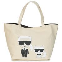Torby Damskie Torby shopper Karl Lagerfeld K/IKONIK KARL & CHOUPETTE TOTE Czarny