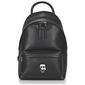 Torby Damskie Plecaki Karl Lagerfeld K/IKONIK METAL PIN BACKPACK Czarny