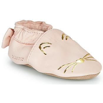 Buty Dziewczynka Obuwie domowe Robeez GOLDY CAT Różowy / Złoty