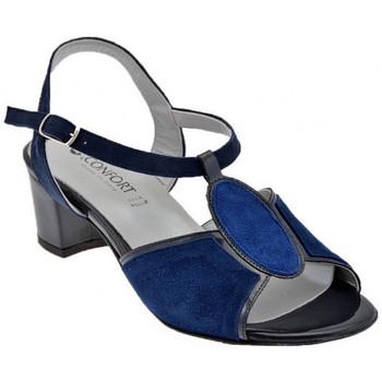 Buty Damskie Sandały Confort  Niebieski