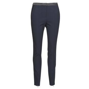 tekstylia Damskie Spodnie z pięcioma kieszeniami Karl Lagerfeld PUNTO PANTS W/ LOGO TAPE Marine / Czarny