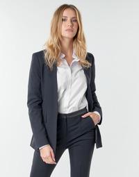 tekstylia Damskie Kurtki / Blezery Karl Lagerfeld PUNTO JACKET W/ SATIN LAPEL Marine / Czarny