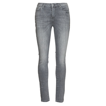 tekstylia Damskie Jeansy slim fit Karl Lagerfeld SKINNY DENIMS W/ CHAIN Szary