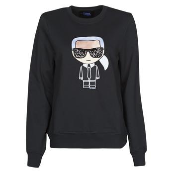 tekstylia Damskie Bluzy Karl Lagerfeld IKONIK KARL SWEATSHIRT Czarny