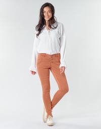 tekstylia Damskie Spodnie z pięcioma kieszeniami Cream HOLLY CR TWILL Brązowy