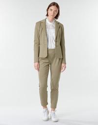 tekstylia Damskie Spodnie z pięcioma kieszeniami Cream ANETT PANT Beżowy