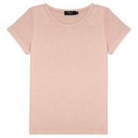 tekstylia Dziewczynka T-shirty z krótkim rękawem Deeluxe GLITTER Różowy