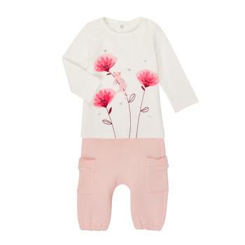 tekstylia Dziewczynka Komplet Catimini CR36001-11 Biały / Różowy