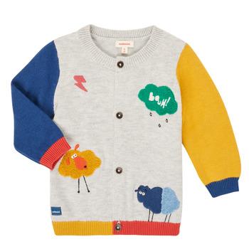 tekstylia Chłopiec Swetry rozpinane / Kardigany Catimini CR18020-20 Wielokolorowy
