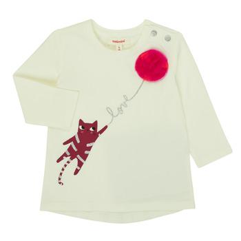 tekstylia Dziewczynka T-shirty z długim rękawem Catimini CR10063-11 Różowy