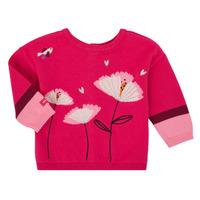 tekstylia Dziewczynka Swetry rozpinane / Kardigany Catimini CR18033-35 Różowy