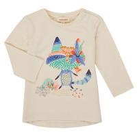 tekstylia Dziewczynka T-shirty z długim rękawem Catimini CR10053-12 Biały