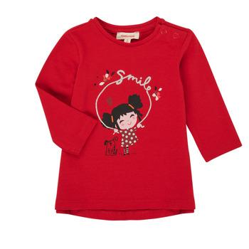 tekstylia Dziewczynka T-shirty z długim rękawem Catimini CR10043-38 Czerwony