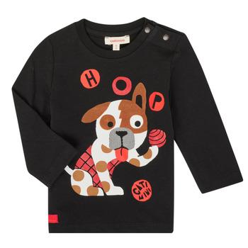tekstylia Chłopiec T-shirty z długim rękawem Catimini CR10022-02 Czarny