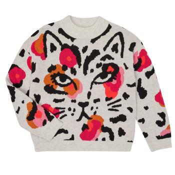 tekstylia Dziewczynka Swetry Catimini CR18035-11-J Wielokolorowy
