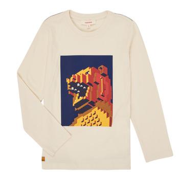 tekstylia Chłopiec T-shirty z długim rękawem Catimini CR10064-17-C Biały