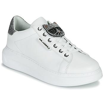 Buty Damskie Trampki niskie Karl Lagerfeld KAPRI IKONIC TWIN LO LACE Biały / Silver