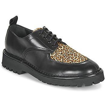 Buty Damskie Derby Kenzo K MOUNT Czarny / Leopard