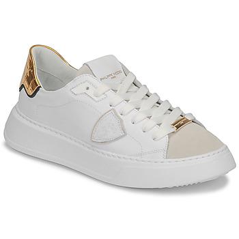 Buty Damskie Trampki niskie Philippe Model TEMPLE Biały