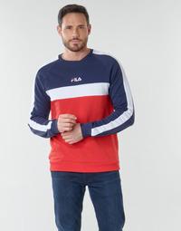 tekstylia Męskie Bluzy Fila CREW SWEATER Niebieski / Biały / Czerwony