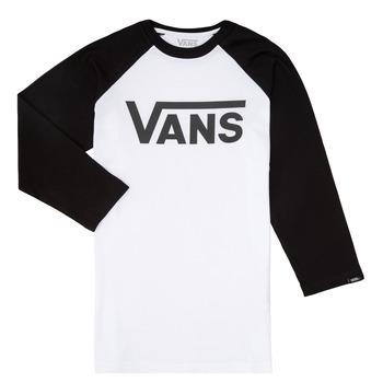 tekstylia Chłopiec T-shirty z długim rękawem Vans VANS CLASSIC RAGLAN Czarny / Biały