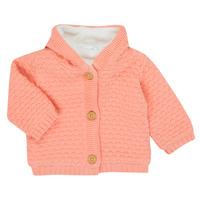 tekstylia Dziewczynka Swetry rozpinane / Kardigany Noukie's Z050003 Różowy