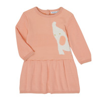 tekstylia Dziewczynka Sukienki krótkie Noukie's Z050082 Różowy