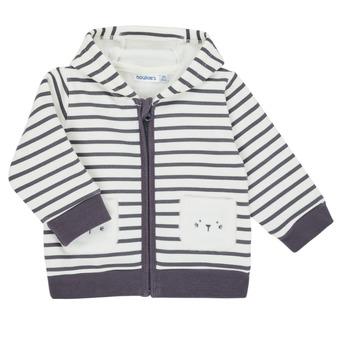 tekstylia Chłopiec Swetry rozpinane / Kardigany Noukie's Z050151 Biały / Niebieski