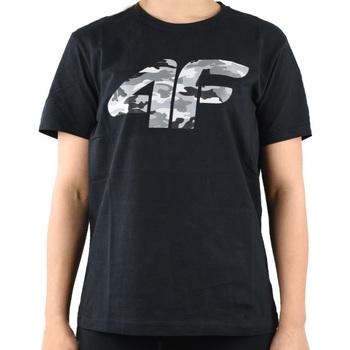 tekstylia Chłopiec T-shirty z krótkim rękawem 4F Boy's T-shirt HJL20-JTSM003-20S Czarne