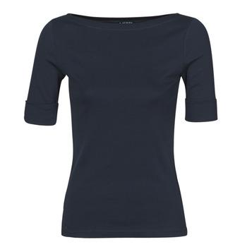 tekstylia Damskie T-shirty z długim rękawem Lauren Ralph Lauren JUDY Marine