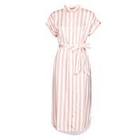 tekstylia Damskie Sukienki długie Lauren Ralph Lauren CICERO Biały / Różowy