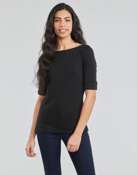 tekstylia Damskie T-shirty z długim rękawem Lauren Ralph Lauren JUDY Czarny