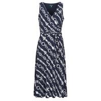 tekstylia Damskie Sukienki długie Lauren Ralph Lauren CARANA Marine