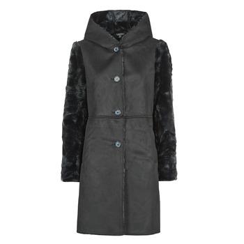 tekstylia Damskie Płaszcze Lauren Ralph Lauren COMBO FX SH-COAT Czarny