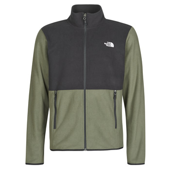 tekstylia Męskie Polary The North Face TKA GLACIER FULL ZIP JACKET Taupe / Zielony / Tnf / Czarny