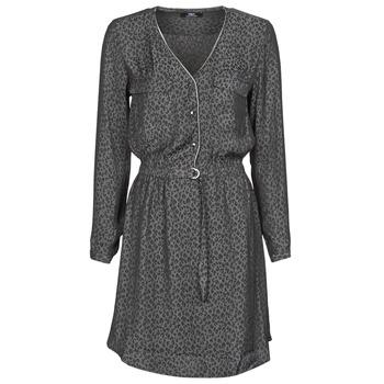 tekstylia Damskie Sukienki krótkie Le Temps des Cerises RABA Szary / Czarny