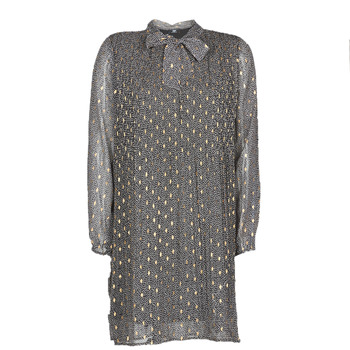 tekstylia Damskie Sukienki krótkie Le Temps des Cerises CHANI Szary