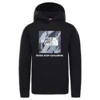 tekstylia Chłopiec Bluzy The North Face NEW BOX CREW HODDIE Czarny